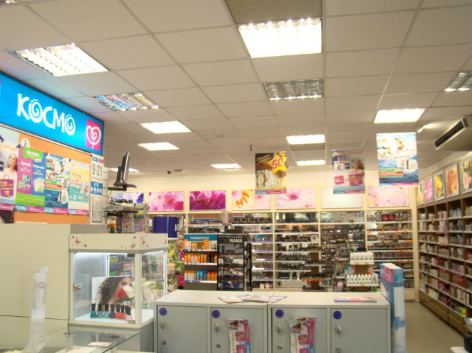 светодиодное освещение магазина Космо.
